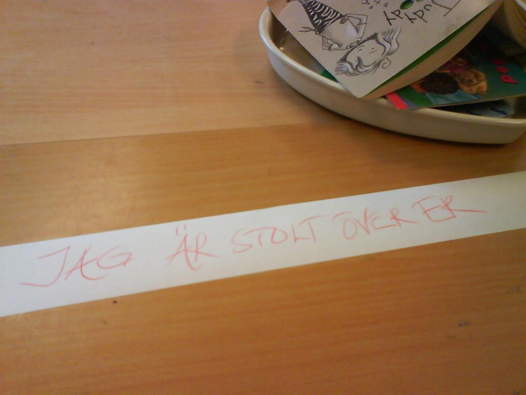 Tydlig kommunikation mellan lärare och elever hittat i Anne-Marie Körlings klassrum.