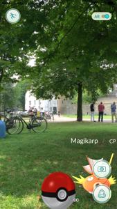 PokemonGO i en park i Maastricht sommaren 2016.