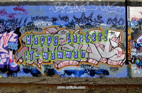 Glad Påsk med Graffiti Generator | Christina Löfving